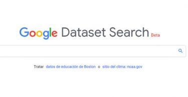 Google Dataset Search para investigadores