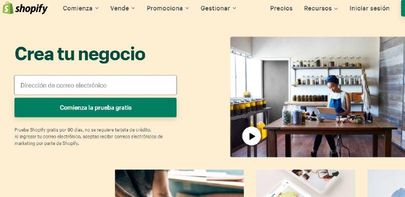 Tienda virtual shopify
