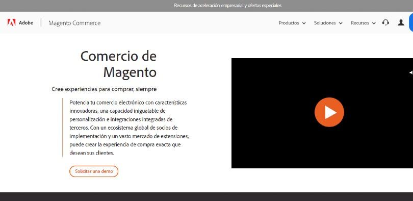 Plataforma virtual Magento