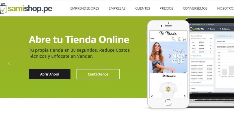 Plataforma tienda virtual Samishop