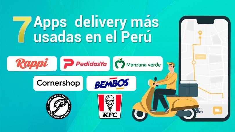 Los 7 principales empresas que realizan delivery en Perú