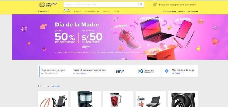 Tipo de página web sobre ecommerce